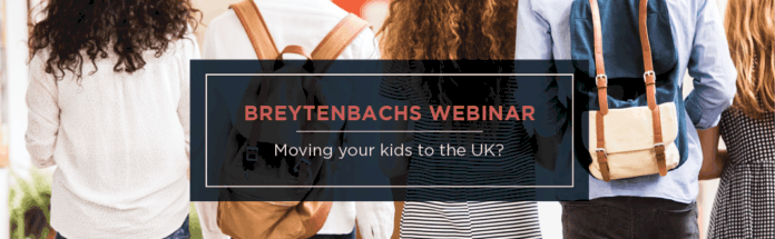 Moving your kids to the UK